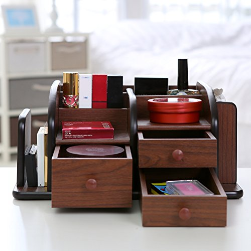 Wooden Desk Organizer With Drawers
