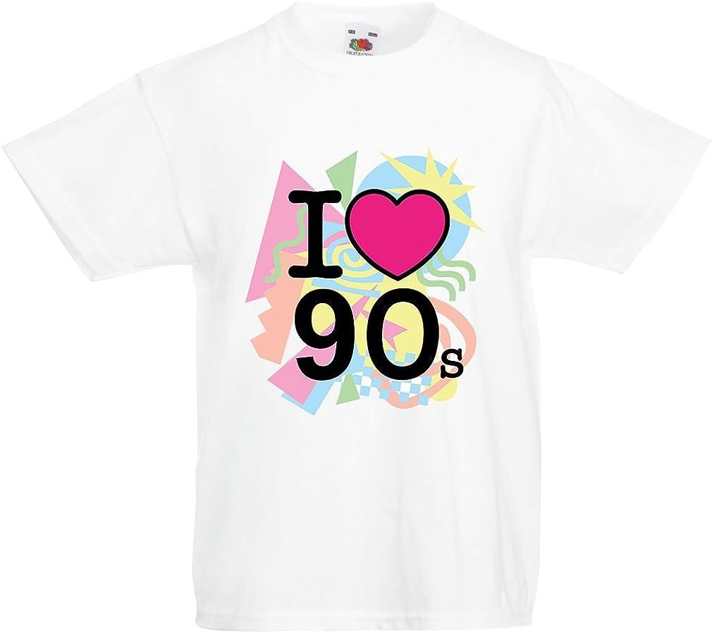 re del Pop Abbigliamento da Festa Camicia Anni 90 lepni.me Maglietta Bambino I Love M J Anni 80