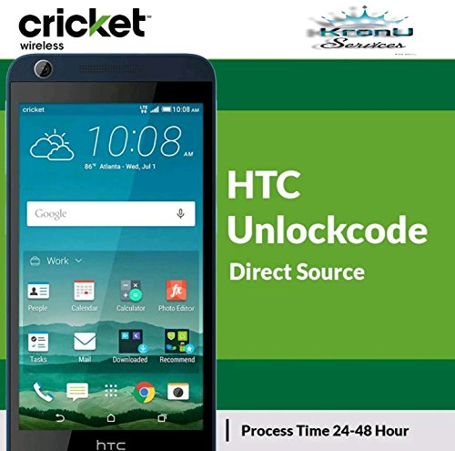 Factory Unlock Code Service For All HTC Only From Cricket Wireless Support HTC Desire 626e,520,512,625,610,510,One SV,626g,One V, C, and Others BY KRONU LLC (Unlock Code For Htc One Sv Cricket)