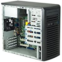 Supermicro - CSE-731I-300B(3YR) - Case CSE-731I-300B(3YR) Mid Tower 300W 9cm PWM Cooling Fan Black microATX Retail