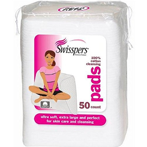Swisspers Premium Cotton Facial Cleansing Pad, 50 Count