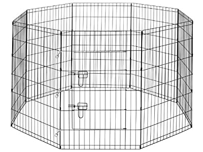 ALEKO® 36 Inch Dog Playpen Pet Kennel Pen Exercise Cage Fence 8 Panel