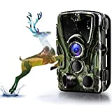 Binrrio Trail Camera,【2019 Upgraded】16MP 1080P HD Wildlife Hunting Game Camera with 940nm Invisible Night Vision Up to 80ft 0.3s trigger Motion Activate Waterproof Deer Cam for Outdoor & Home Security