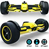 """Gyroor G-F1 Fastest Racing Hoverboard with Music Speaker and LED Lights Two-Wheel Electric Scooter with UL2272 Certified, 8.5"""" Self Balancing Scooter for Kids and Adult(Yellow)"""