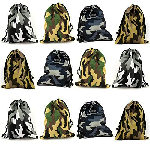 Tytroy Camouflage Drawstring Party Favor Tote Pouch Bags