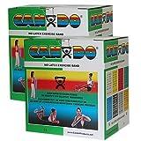 CanDo Latex Free Exercise Band - 100 yard (2 x 50 yard rolls) - Green-medium