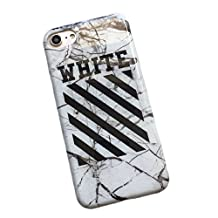 iPhone 6/6s Plus - Cracking Marble Haute Fashion - Protective Durable Slim Fit TPU Case / Cover / Bumper / Skin / Cushion (White)