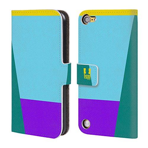 Head Case Designs Cielo Blu Mattoncini Colorati Cover a portafoglio in pelle per iPod Touch 5th Gen / 6th Gen