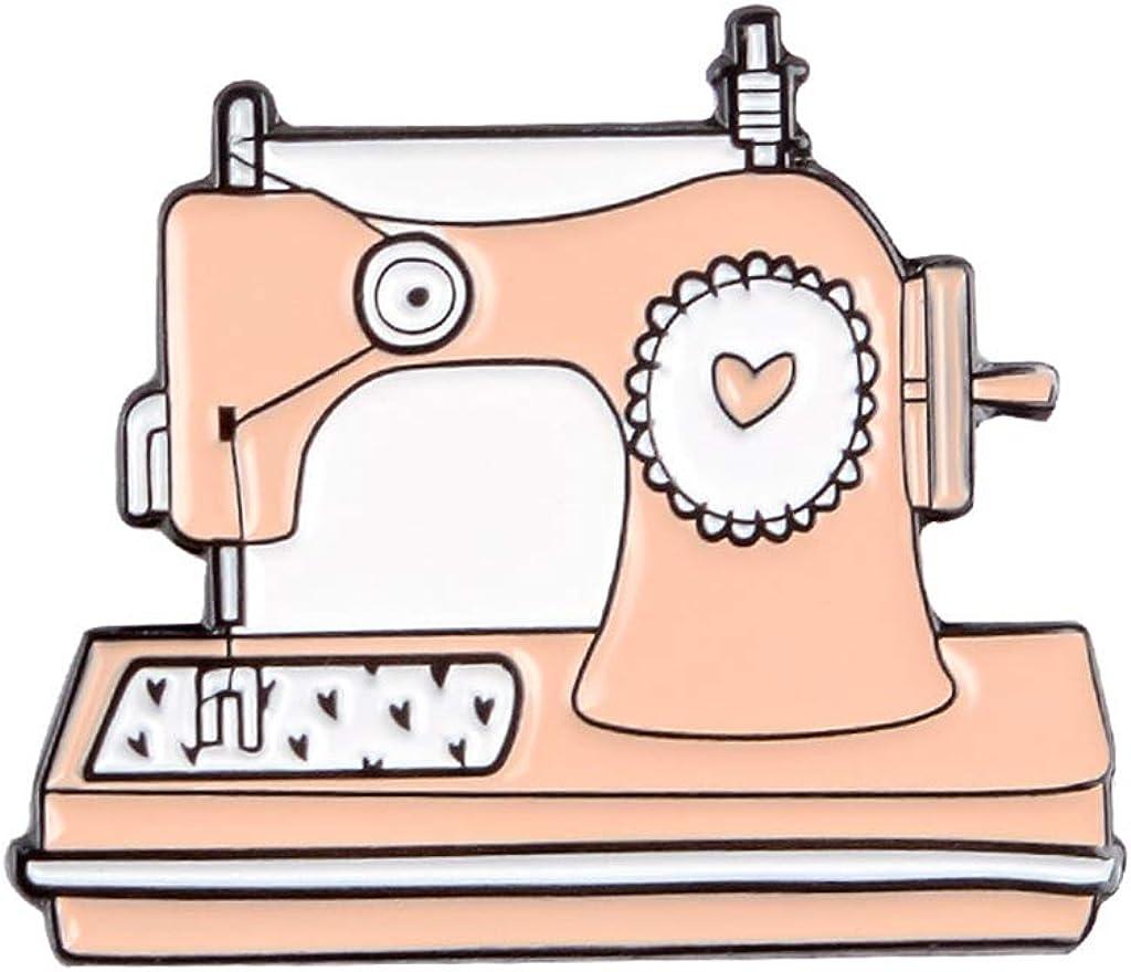 beatifulloy Vintage Máquina de coser Pins Tejido Amor Corazón Broches Insignias Bolsa Ropa Lape: Amazon.es: Joyería