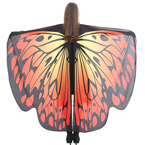 VEFSU Women Butterfly Wings Party Shawl Scarves Ladies Nymph Pixie Poncho Costume Accessory (I)]()