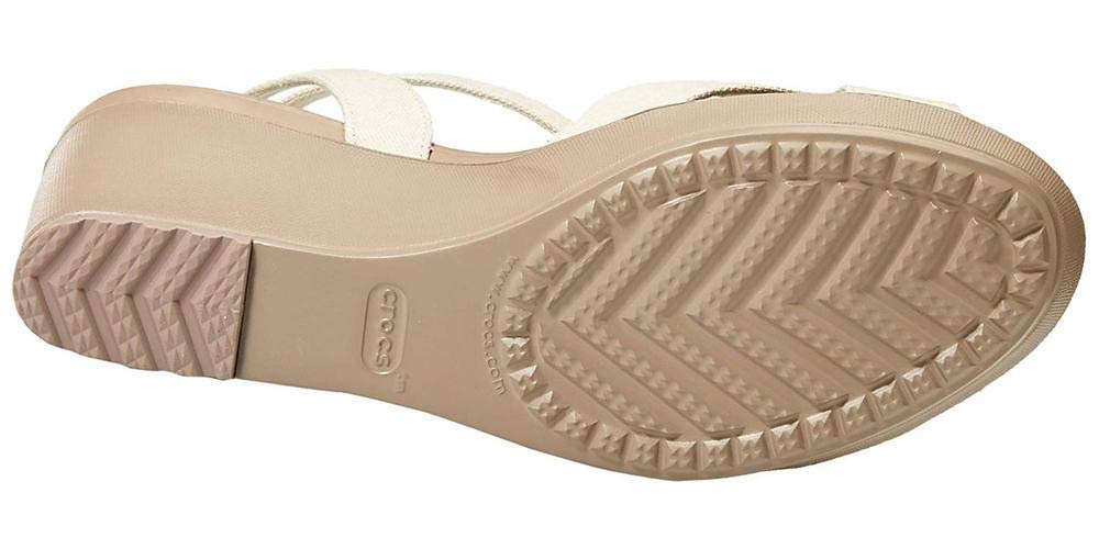 Crocs Women's Leigh II Adjustable Ankle Strap Wedge Comfort Sandal
