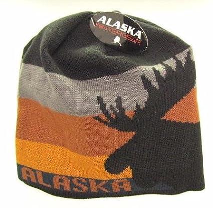 Amazon.com  Alaska Beanie Hat Skull Big Moose Head Knit Stocking Hat ... 70066273703