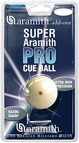 Aramith Super Pro Pool Cue Ball 2 1/4 in a blister