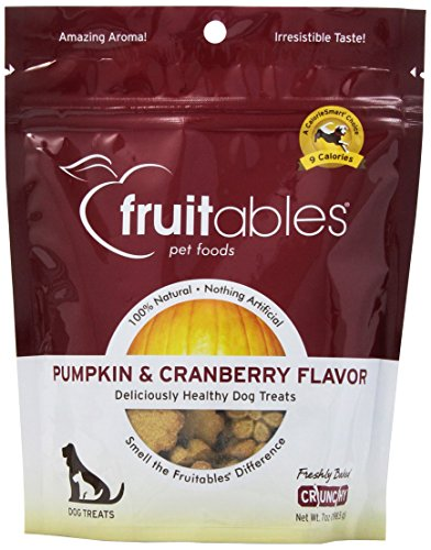 Fruitables 953026 8-Pack Countables Dog Treats Pumpkin And Cranberry, 7-Ounce