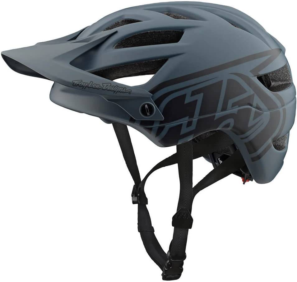 Troy Lee Designs Adult Trail Enduro Half Shell A1 Drone Mountain Biking Helmet Medium Large, Gray Black