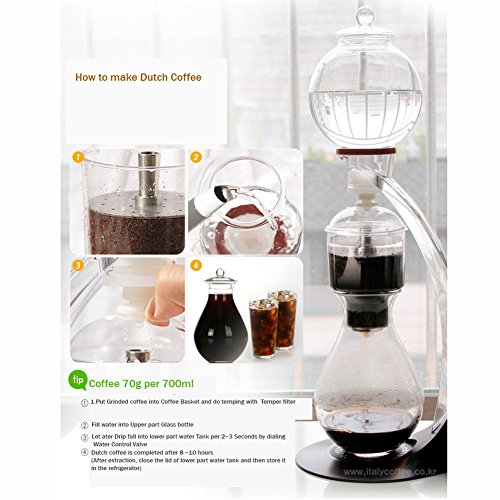 GTBeans Miracle 700 Cold Brew Dutch Coffee Maker Hand Drip SET 24 oz with Tamper filter by GTBeans (Image #7)