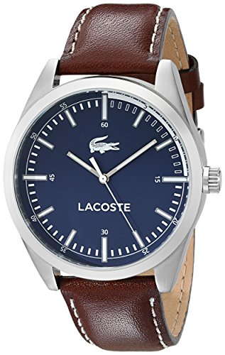Lacoste Men's 2010742 Montreal Analog Display Japanese Quartz Brown Watch