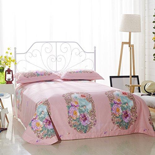 Papa&Mima Flowers Window Duvet Cover Set Flat Sheet Pillow Cases 800TC Soft Sanding Cotton Fabric 4Pcs King Size Bedding Sets
