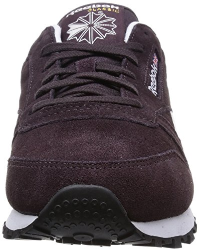 Reebok Classic Leather Suede, Chaussons Sneaker Femme Violet (urban Plum/white/black/gold Met)