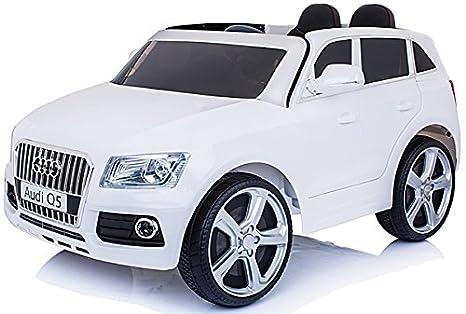 Der neue Audi Q5 quattro Kinderauto Kinderfahrzeug Kinder Elektroauto 12V Weiss Kinderfahrzeuge