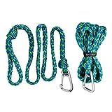 Skog Å Kust Premium PWC Dock Lines | 2-Pack Heavy Duty Braided Ropes, 3/4'' x 7ft & 14ft Lengths, with 316 Stainless Steel Clip