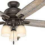 """Hunter 52"""" Onyx Bengal Bronze Traditional Ceiling Fan Review and Comparison"""