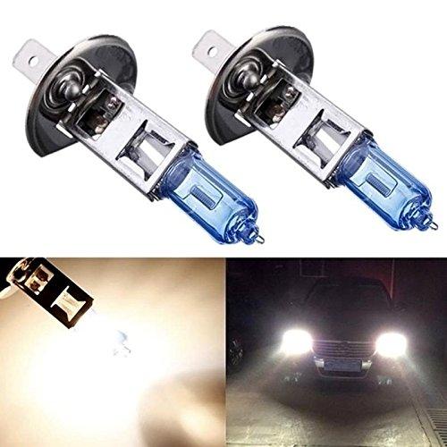 KATUR 2Pcs H1 Xenon Halogen HeadLight Bulb12V 55W 5000K Driving Bulb Lamp Light