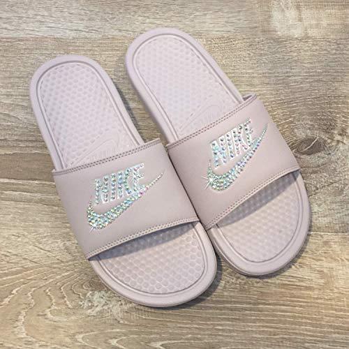 17ccfd284 Swarovski Nike Slides - Nike Slip On Shoes For Women Rose Color NIKE  Benassi JDI Slides