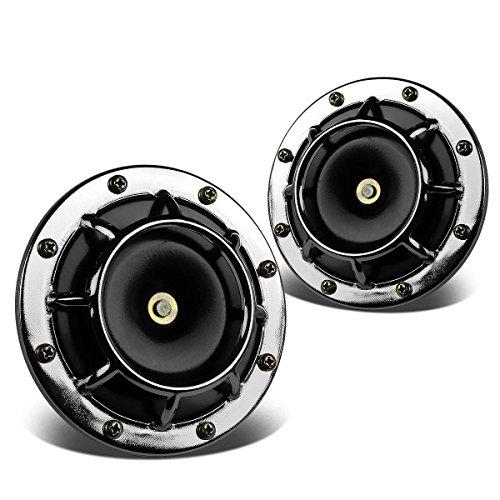 Dual Super Loud Blast Tone 12V Electric Grille Mount Compact Horns (Chrome) ()