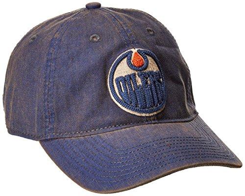 fan products of NHL Edmonton Oilers Men's SP17 Vintage Slouch Adjustable Cap, Blue, One Size