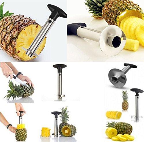 (Bfloweryan 4882350 Stainless Steel Pineapple Easy Slicer)