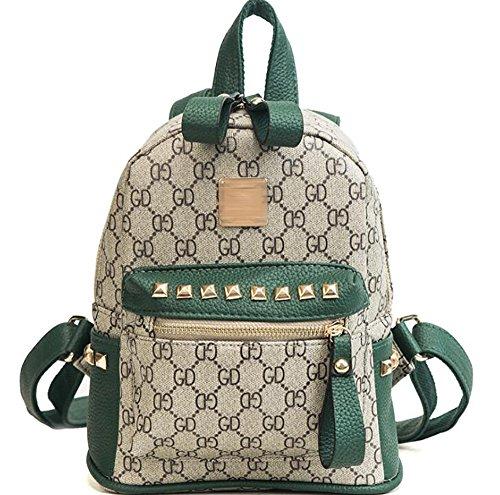 borsa zaino modo cuoio multifunzionale La 11 24cm casuale delle 19 di borsa di molle donne PU CwXwgdq