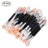 Best Eye Shadow Brushes - 50pcs Disposable Eye Shadow Brush Double Ended Sponge Review