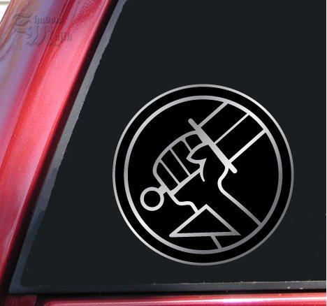 ShadowMajik Hellboy Bureau for Paranormal Research and Defense Vinyl Decal Sticker - Shiny Chrome