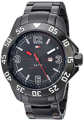 Tommy Hilfiger Men's 1790987 Cool Sport Black Ion-Plated Case and Bracelet Watch