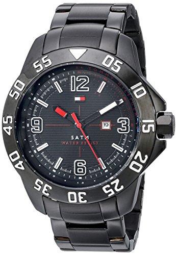 (Tommy Hilfiger Men's 1790987 Cool Sport Black Ion-Plated Case and Bracelet Watch)