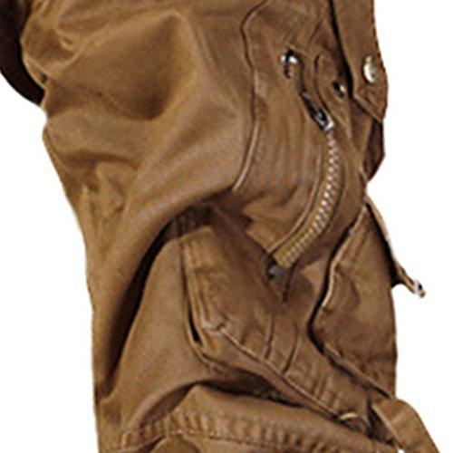 Cargo Travail 40 48 Foncé Gris Extérieur 50 46 Pantalons Longs Multiples 44 Résistant Feoya Occasion 42 Coton Caqui Poches Taille Homme 52 Vert Noir Jaune xfIaaFwq