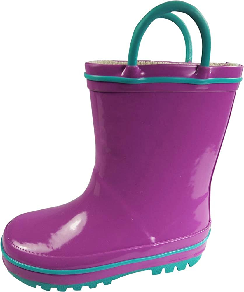 Solid /& Printed Rainboots NORTY Waterproof Rubber Rain Boots for Girls /& Boys Toddlers /& Big Kids