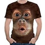 MISYAA Funny Orangutan T Shirts for Men, Short Sleeve Brown Tank Top Breathable Muscle Tee Activewear Gifts Mens Tops