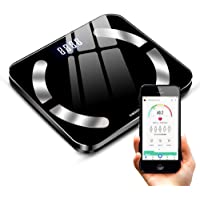 Body Fat Scale, Womdee Smart BMI Scale Digital Bathroom Wireless Weight Scale Body Composition Analyzer Monitor High Precision Measuring Weighing Scale Works with Smart Phone App for Weight