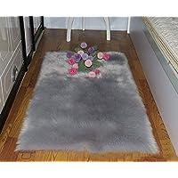 Exquisite home Super Soft Faux Fur Rug Shaggy Fluffy Faux...