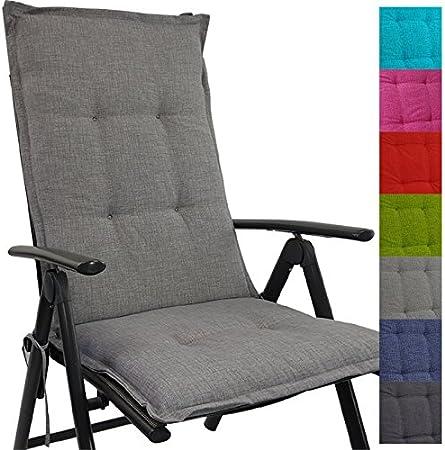 Cojín respaldo para sillas de jardín Tino 118 x 50 x 5,5 cm repelente al