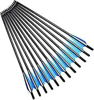 Accmos 12pcs 17 inches 20 inches 22 inches Crossbow Bolts Carbon Arrow Crossbow Hunting