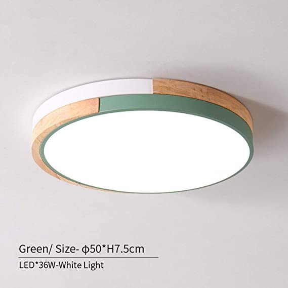 WSYYWD 220v llevó la luz de techo moderna lámpara de madera de ...