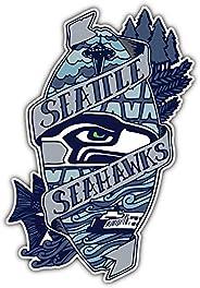 Seattle Seahawks NFL Emblem Car Bumper Sticker Decal 3'