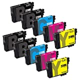 E-jet Remanufactured for epson 220 220XL Ink Cartridge, High Capacity, 10 Multipack for Epson WorkForce WF-2760 WF-2750 WF-2630 WF-2650 WF-2660 XP-420 XP-424 Printers
