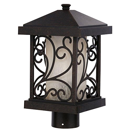 Cypress Collection Forged Bronze 1-light Post Lantern