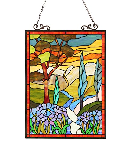 Chloe Lighting 18X24 ALMOS, Tiffany-Glass Floral Window Panel One Size/18 x 24