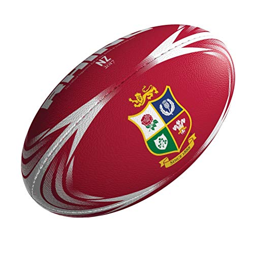 Rhino British Lions Supporter midi Rugby Ball [red]