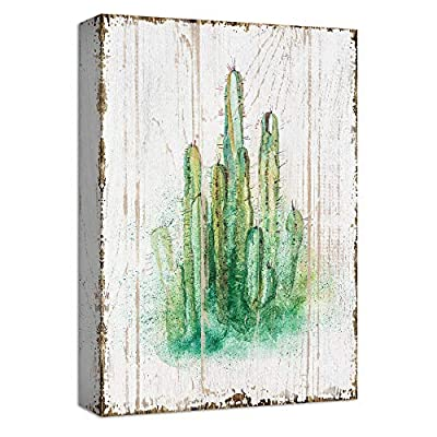 Majestic Object of Art, Cactus Green Abstract Painting Artwork for Home Framed, Quality Creation